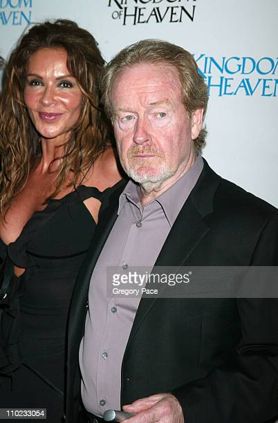 "Giannina Facio and Ridley Scott, director during ""Kingdom of Heaven"" New York City Premiere - Inside Arrivals at Ziegfeld Theater in New York City,..."