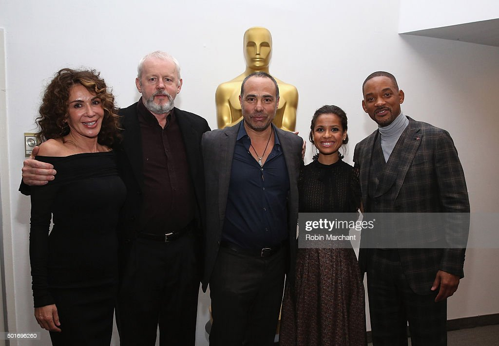 Giannina Facio, David Morse, Peter Landesman, Gugu Mbatha-Raw and Will Smith attend The Academy Of Motion Picture Arts And Sciences Hosts An Official Academy Screening Of CONCUSSION on December 16, 2015 in New York City.