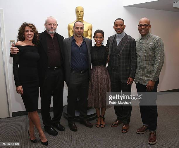 Giannina Facio David Morse Peter Landesman Gugu MbathaRaw Will Smith and Patrick Harrison Director of NY Programs and Membership Academy of Motion...