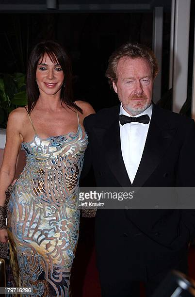 Giannina Facio & Ridley Scott during AFI Awards 2002 in Beverly Hills, CA, United States.