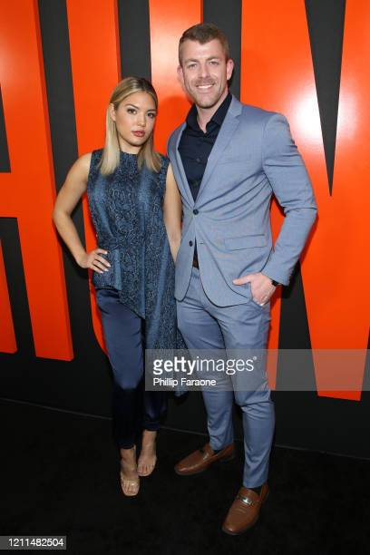 Giannina Gibelli and Damian Powers attend the premiere of Universal Pictures' The Hunt at ArcLight Hollywood on March 09 2020 in Hollywood California
