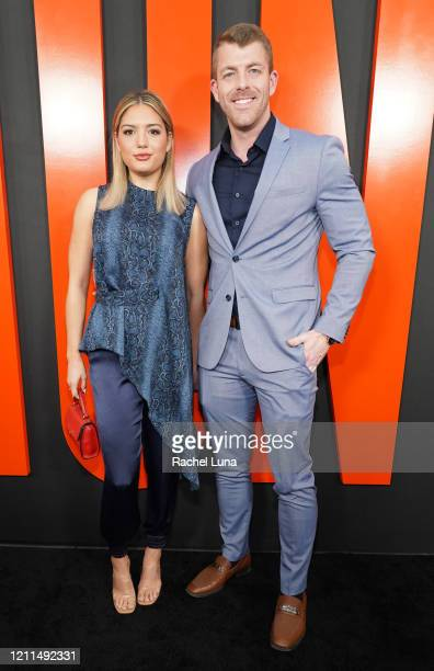 "Giannina Gibelli and Damian Powers attend the premiere of Universal Pictures' ""The Hunt"" at ArcLight Hollywood on March 09, 2020 in Hollywood,..."