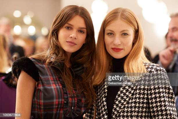 Giannina Mueller and Lisa Banholzer attend the Liu Jo store opening on October 25 2018 in Berlin Germany