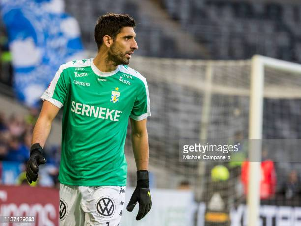 Giannis Anestis of IFK Goteborg during the Allsvenskan match between Djurgardens IF and IFK Goteborg at Tele2 Arena on April 15 2019 in Stockholm...