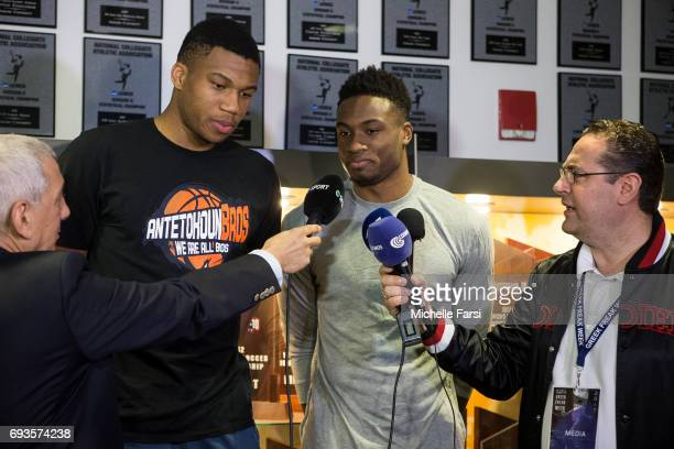 Giannis Antetokounmpo and Thanasis Antetokounmpo host a Greek Freak Week basketball clinic at Adelphi University featuring a lineup of former and...