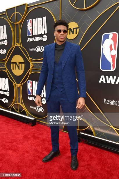 Giannis Antetokounmpo attends the 2019 NBA Awards presented by Kia on TNT at Barker Hangar on June 24, 2019 in Santa Monica, California.