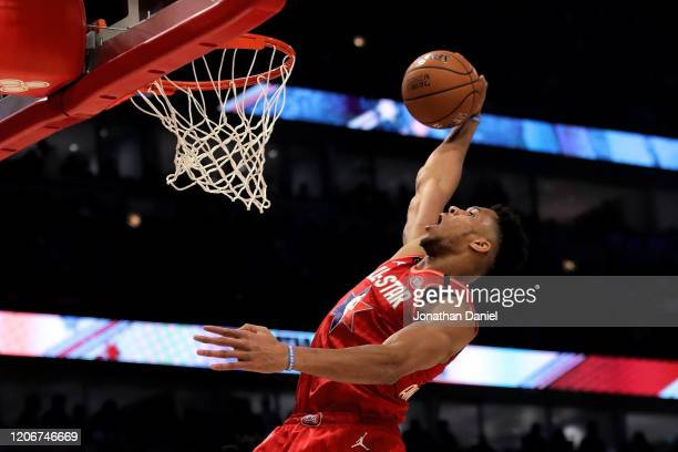 Giannis Antetokounmpo of Team Giannis dunks the ball in the second quarter against Team LeBron during the 69th NBA All-Star Game at the United Center...
