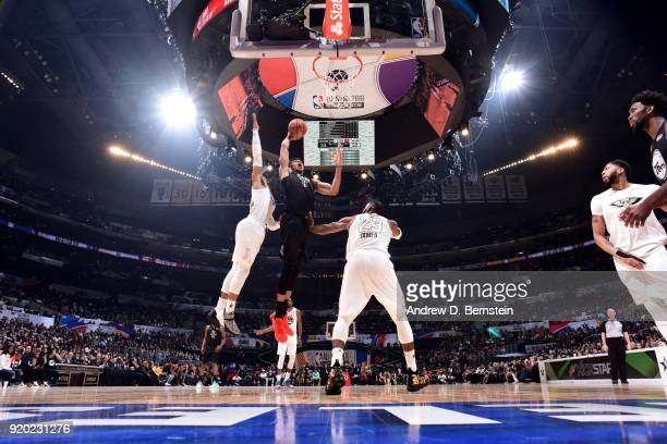 Giannis Antetokounmpo Of Team Stephen shoots the ball during the NBA AllStar Game as a part of 2018 NBA AllStar Weekend at STAPLES Center on February...