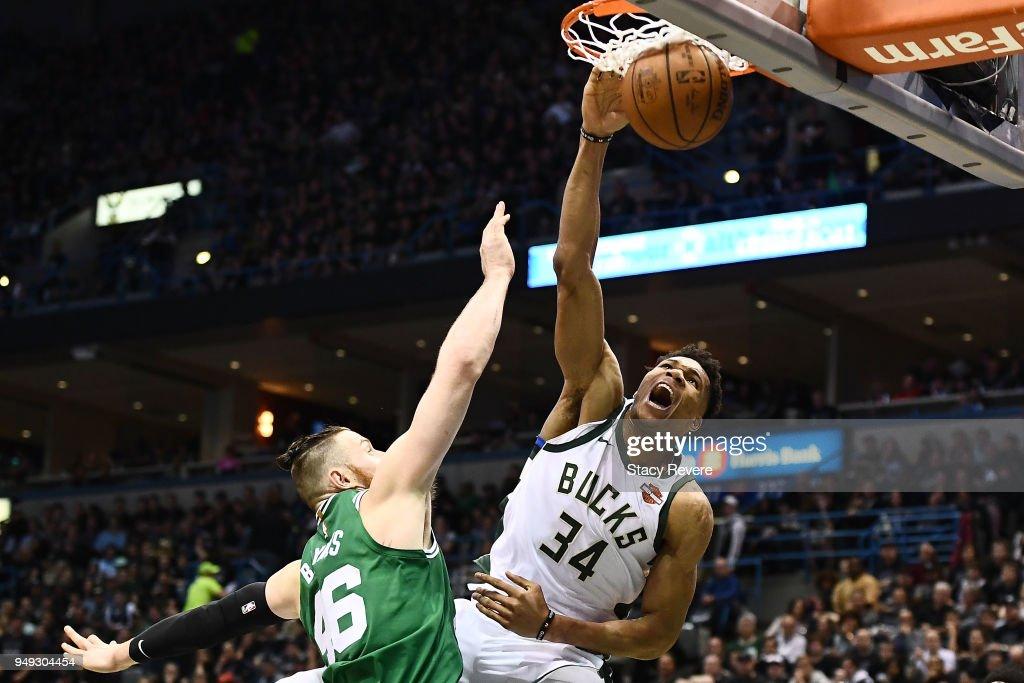 Boston Celtics v Milwaukee Bucks - Game Three : News Photo
