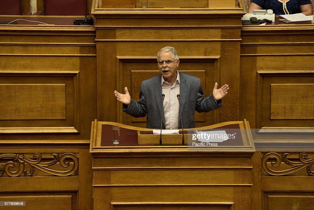 Giannis Balafas, Deputy Minister of Interior and... : News Photo