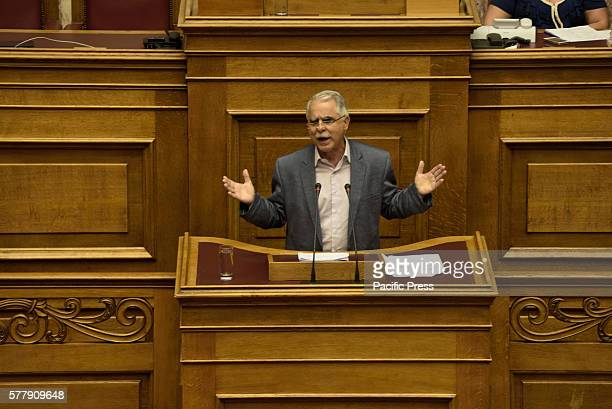 PARLIAMENT ATHENS ATTIKI GREECE Giannis Balafas Deputy Minister of Interior and Administrative Reconstruction during his speech in Hellenic Parliament