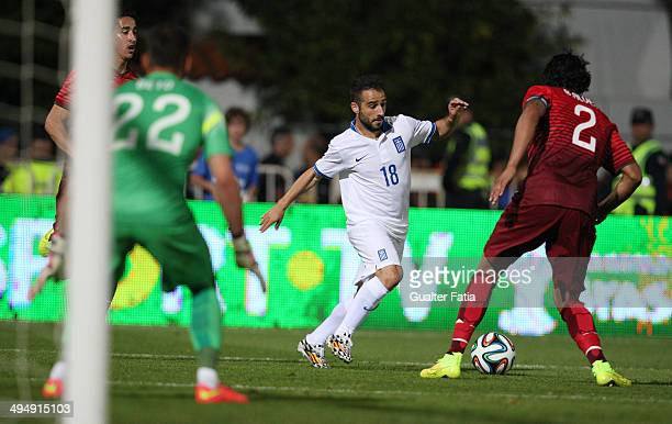Giannis Fetfatzidis of Greece in action during the International Friendly between Portugal and Greece National Stadium on May 31 2014 in Lisbon...