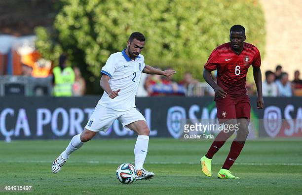 Giannis Maniatis of Greece in action during the International Friendly between Portugal and Greece at the National Stadium on May 31 2014 in Lisbon...