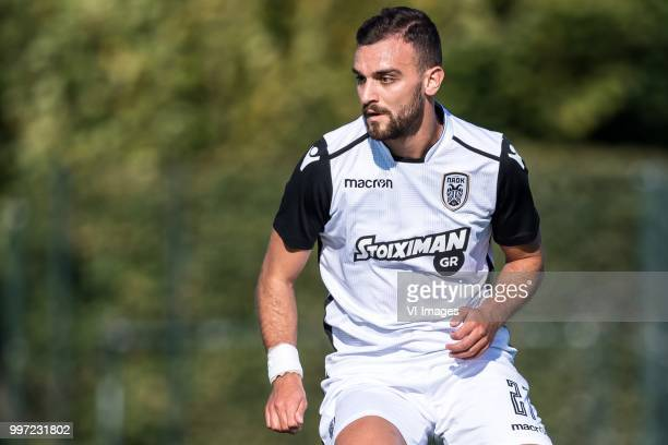 Giannis Mystakidis of Paok Saloniki during the friendly match between PAOK Saloniki and KAA Gent at sportcomplex Schuytgraaf on July 12 2018 in...