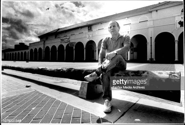 Giannis Pellicciari who is one of the store owners at the Bondi Pavilion at Bondi beach January 27 1989