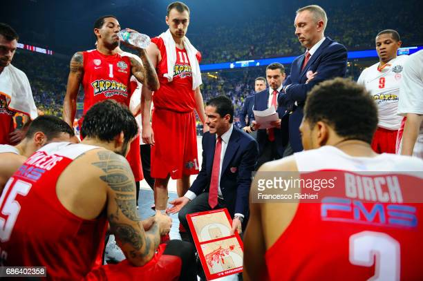 Giannis Sfairopoulos Head Caoch of Olympiacos Piraeus during the Championship Game 2017 Turkish Airlines EuroLeague Final Four between Fenerbahce...