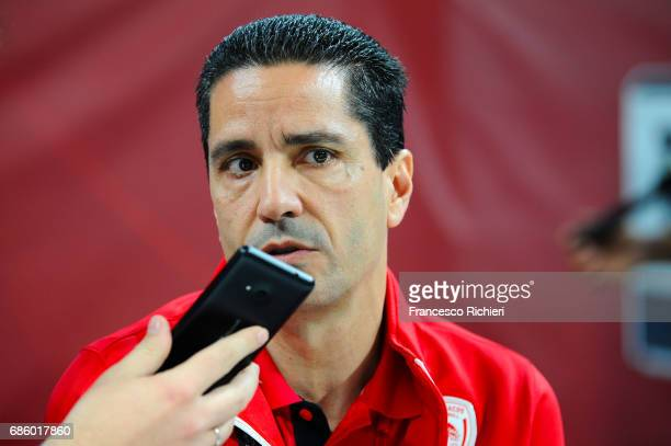 Giannis Sfairopoulos Head Coach of Olympiacos Piraeus during the 2017 Turkish Airlines EuroLeague Final Four Olympiacos Piraeus Practice at Sinan...