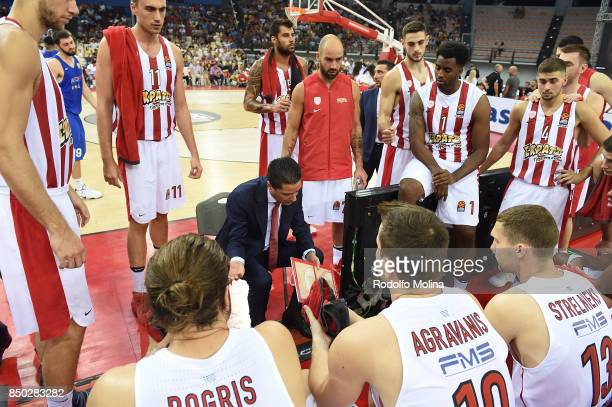 Giannis Sfairopoulos Head Coach of Panathinaikos Piraeus during the Turkish Airlines Euroleague Dusan Ivkovic Tribute Game between Olympiacos Piraeus...