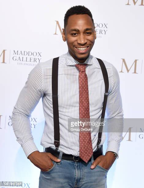Gianno Caldwell attends the VIP Opening of Maddox Gallery Exhibition Best Of British at Maddox Gallery on October 11 2018 in Los Angeles California