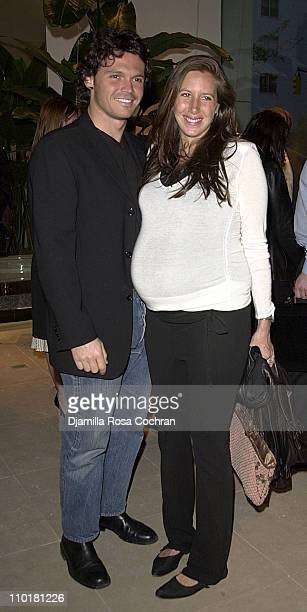 Gianpaolo De Felice and Gabby Karan during Donna Karan Hosts a Celebration for Doctor Frank Lipman s Book at Donna Karan New York in New York City...