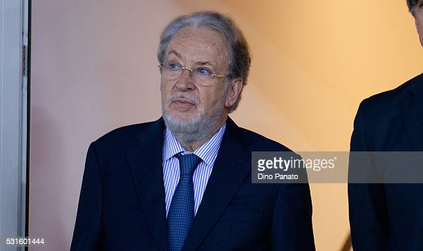 Gianpaolo Pozzo President of Udinese lokks on during the Serie A match between Udinese Calcio and Carpi FC at Stadio Friuli on May 15, 2016 in Udine,...