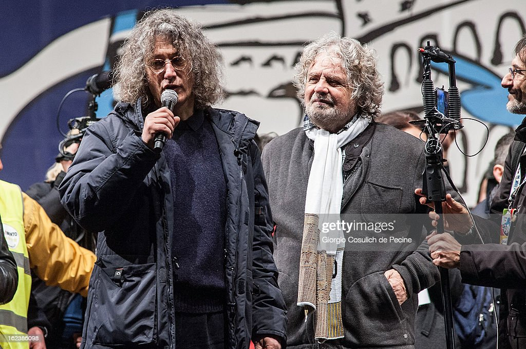 Beppe Grillo Holds Final Rally Before Election In Rome : News Photo