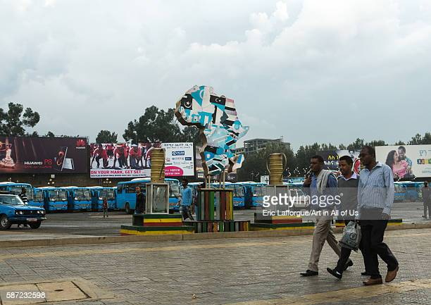 Giant advertisements billboards on churchill avenue addis abeba region addis ababa Ethiopia on March 7 2016 in Addis Ababa Ethiopia