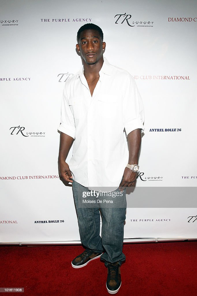 NY Giant Antrel Rolle attends his welcoming celebration on June 3, 2010 in New York, New York.