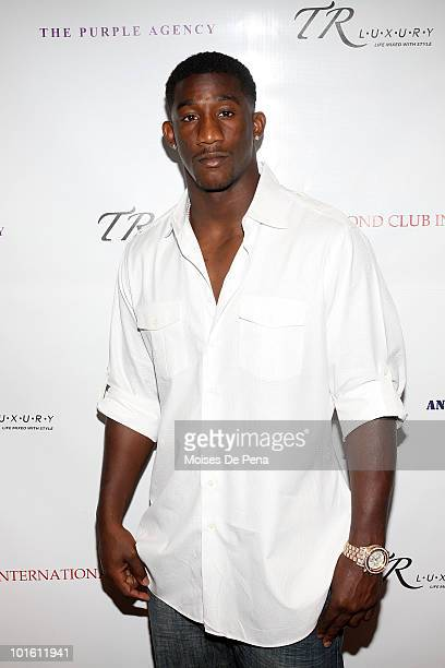 Giant Antrel Rolle attends his welcoming celebration on June 3, 2010 in New York, New York.