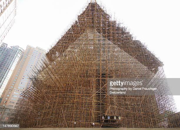 Giant bamboo scaffolding