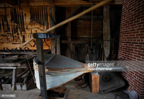 A giant bellows in the blacksmith's barn at Narramissic Historic Farm