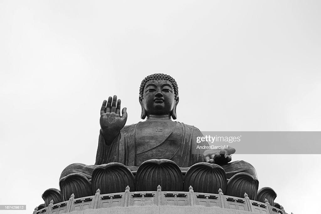 Giant bronze Tian Tan Buddha in Lantau Island, Hong Kong : Stock Photo
