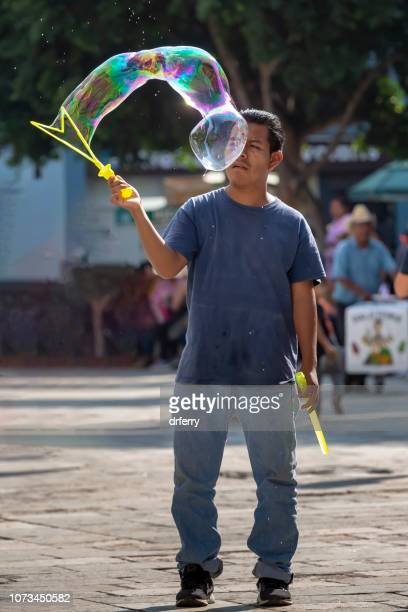 Géant Bubble Maker sur le Día de los Muertos, Oaxaca