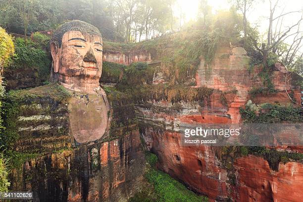 Giant buddha of Leshan with natural light ( Sichuan ; China )