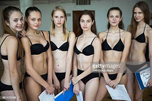 giant cast for Top Model in Russia organized by Tigran Khachatrian director of the russian agency Noah Models Novosibirsk November 10 2014 candidates...