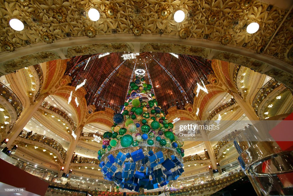 les galeries lafayette christmas decorations inauguration in paris news photo