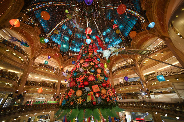 FRA: Les Galeries Lafayette Christmas' Decorations Inauguration In Paris