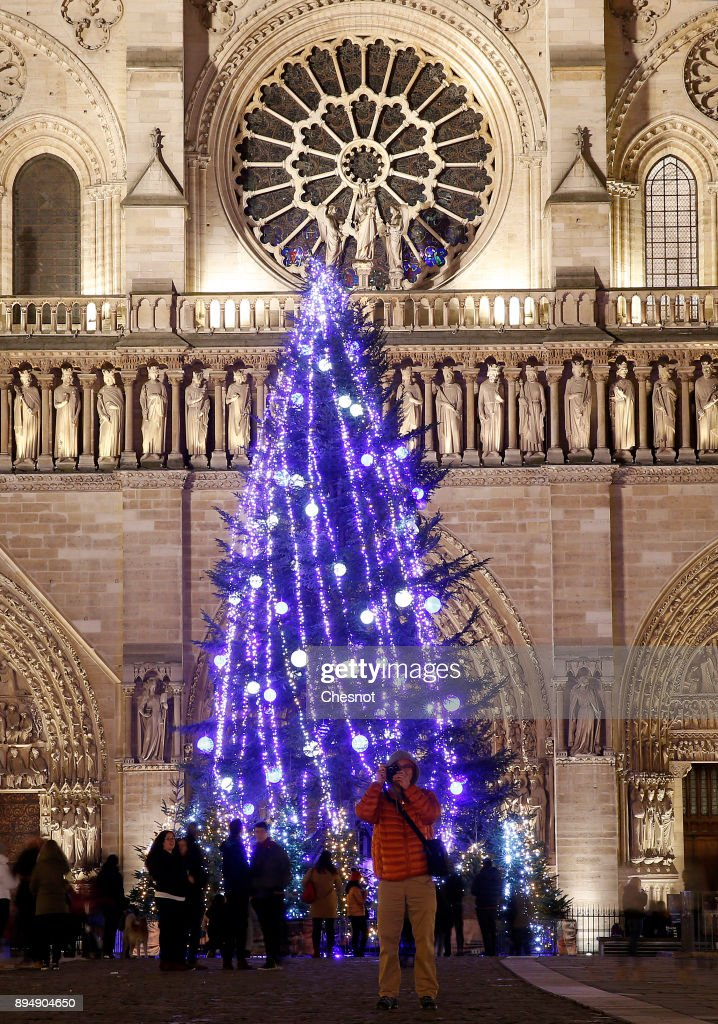 Christmas Market At Notre Dame de Paris In Paris