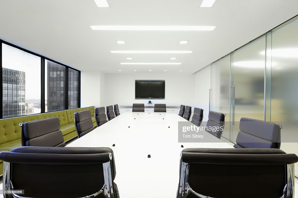 Giant Corian Conference Table Stock Photo Getty Images - Corian conference table