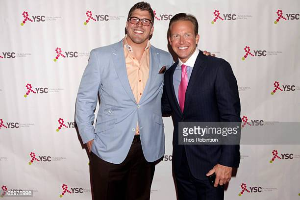 Giant David Diehl and news anchor Chris Wragge attend In Living Pink Gala at Capitale on May 17 2013 in New York City