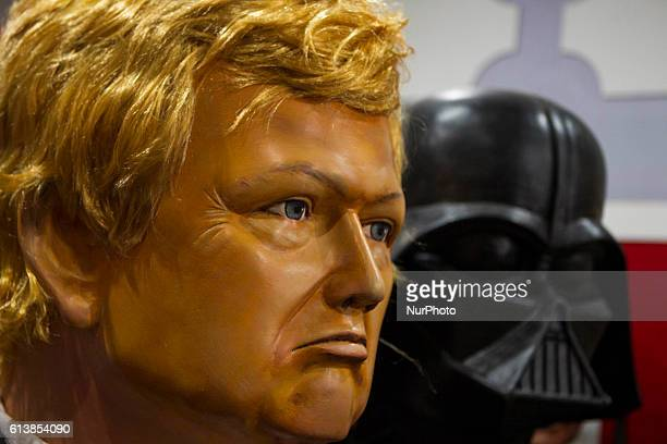 Giant Dolls of Donald Trump and Darth Vader on show with other dolls The dolls that are made remain on show in the city of Recife until the carnival...