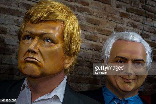 Giant Dolls of Donald Trump and President of Brazil Michel Temer on show with other dolls The dolls that are made remain on show in the city of...