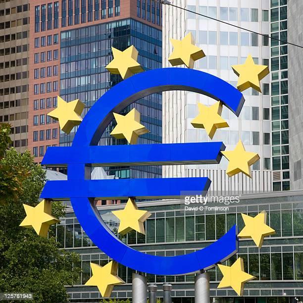 Giant euro sign, Frankfurt am Main, Germany