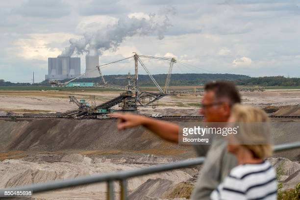 A giant excavator operates at the Schleenhain open cast lignite mine operated by Mibrag GmbH as the Lippendorf brown coalfired power plant operated...