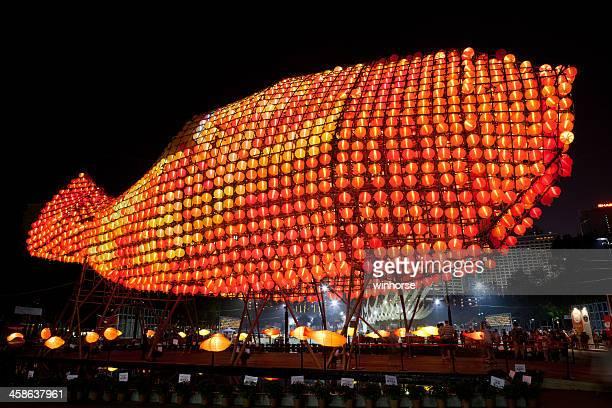Giant fish lanterns in Mid-Autumn Festival