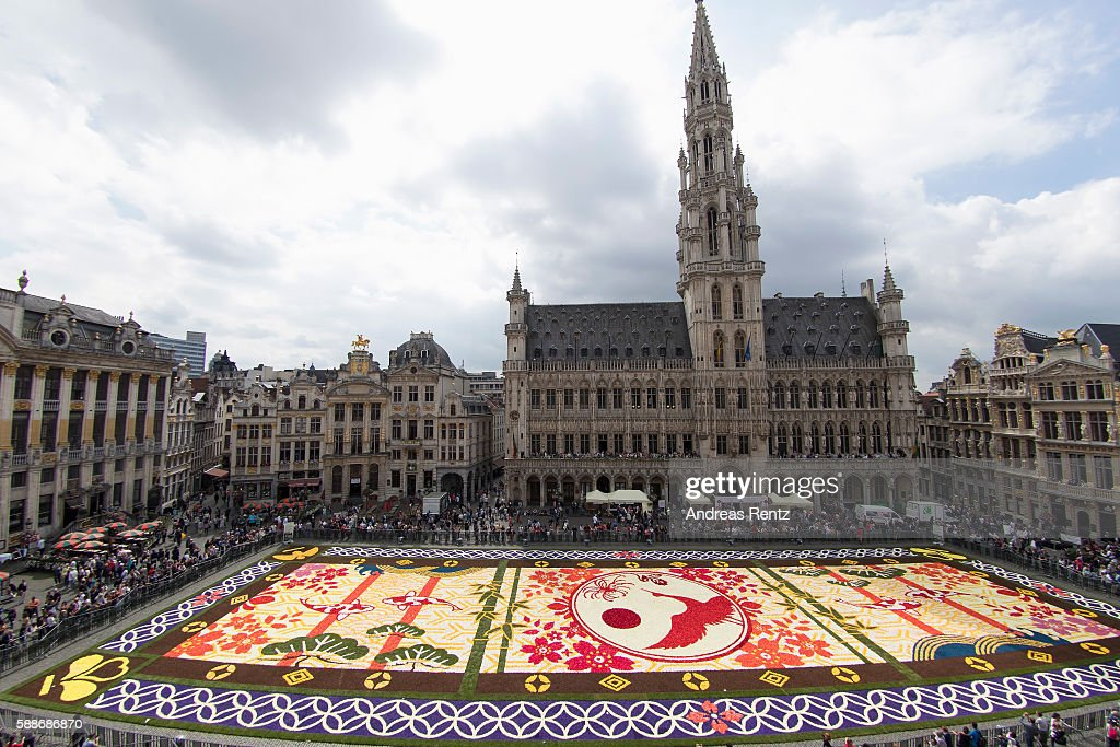 Flower Carpet 2016 In Brussels : News Photo
