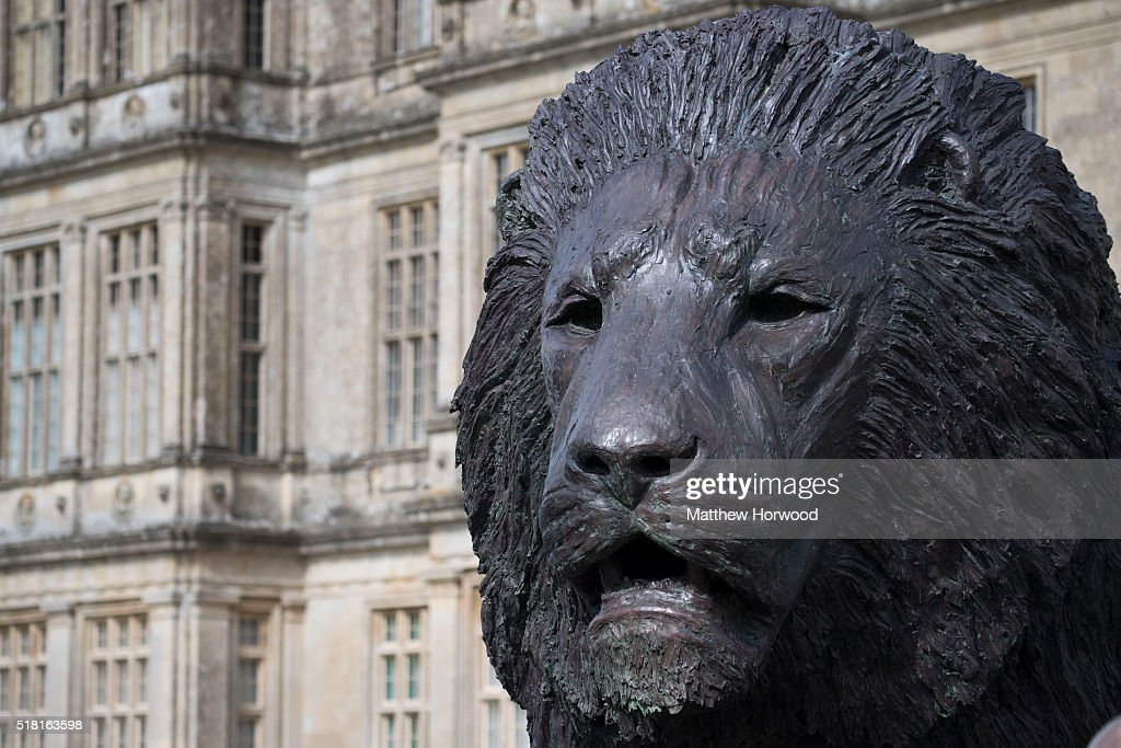 A giant four-metre tall sculpture of a lion, created by South African artist Bruce Little, outside Longleat House on March 30, 2016 in Wiltshire, England. This year Longleat marks the 50th anniversary of its ground-breaking safari park. In 1966, the park, set in the grounds of the Wiltshire stately home, became the first of its kind to open outside of Africa.