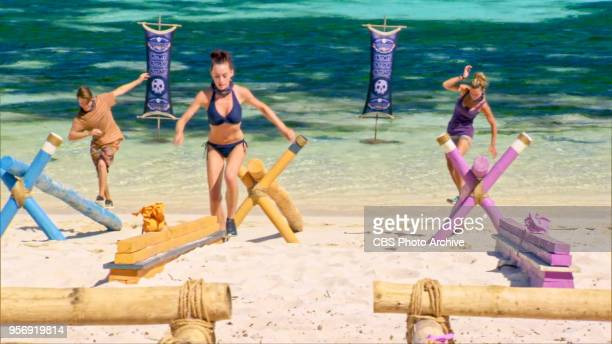 'A Giant Game of Bumper Cars' Donathan Hurley Chelsea Townsend and Angela Perkins on the twelfth episode of Survivor Ghost Island airing Wednesday...