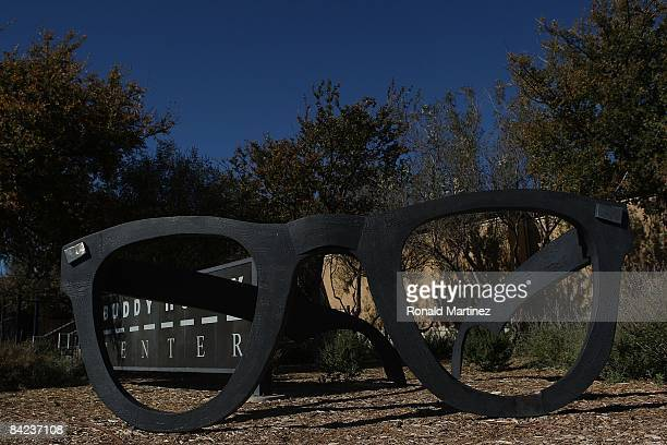 Giant glasses in front of the Buddy Holly Center on November 8 2008 in Lubbock Texas Februray 3 2009 will be the 50th anniversary of what is referred...