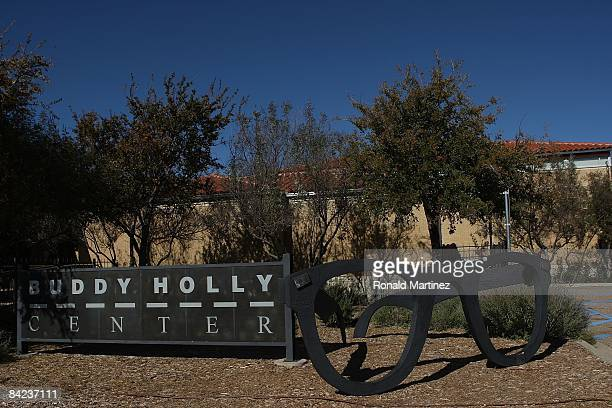 Giant glasses in front of the Buddy Holly Center on November 8, 2008 in Lubbock, Texas. Februray 3, 2009 will be the 50th anniversary of what is...